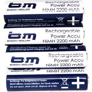 Akku Mignon AA 2200mAh B+M, Ixon/Ixon-IQ, 4 Stück