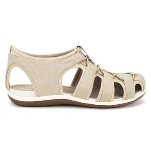 Geox SAND.VEGA Damen Sandale - Outdoor Trekking Sandaletten beige NEU