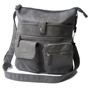 Tasche Handtasche Schultertasche Bag Street grau Damen Ta7042
