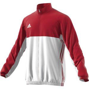 adidas T16 Jacke Männer rot / weiß