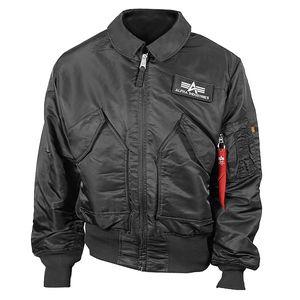 ALPHA Industries CWU 45 Jacke schwarz, Größe:XXXL