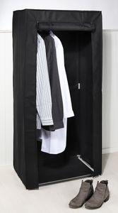 Kleiderschrank Faltschrank Campingschrank Stoffschrank Schrank Schwarz 70x148 cm