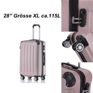 Reise Koffer Hartschalenkoffer Trolley Reisekoffer Xl Rosa-Gold 4 Rollen Roll-Koffer Handgepäck