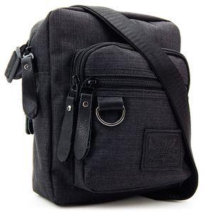 Herren Schultertasche klein – Handy Umhängetasche für Männer – Messenger Crossbody Bag – Unisex Tasche für Tablet - Schwarz