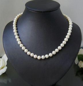 Perlencollier creamweiß Kette 46-53cm Collier Halskette Perlen K2229*