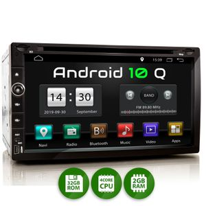 XOMAX XM-2DA758: 2DIN Autoradio mit Android 10 Navi 6,9 Zoll Touchscreen Monitor, Bluetooth, SD und USB