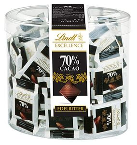 Lindt Excellence Mini Tafeln mit Edelbitterschokolade 70 Stück 385g