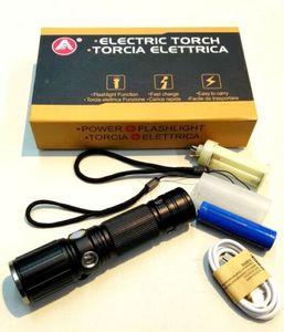 M2-Tec LED Taschenlampe, Tragbarer Zoombar Superhelle CREE LED Taschenlampe, Modis Einstellbar, Wasserfeste Taschenlampen für Freizeit oder Handwerk Outdoor Sports ( 2 Stück )