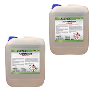 Flotex Fleckenlöser, 2 x 5L Fleckentferner Fleckenwasser Fleckenentferner Textilreiniger