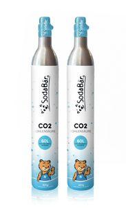 CO2-Zylinder für SodaStream | 2 x 425g (60 l) | Premiumfüllung mit Kohlensäure von Linde Deutschland