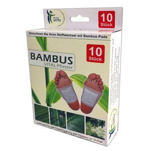 10x Vital Fusspflaster | Bambus Fußpads | Bambuspflaster Fuss Pflaster Vitalpflaster