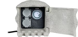 Heitronic Energieverteiler Piedra 2-fach mit Zeitschaltuhr