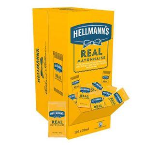 Hellmanns Real Mayonnaise für Saucen Dips Portionspackungen 120x20ml