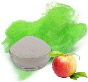 Aromazucker für bunte Zuckerwatte mit Geschmack | Apfel - Grün 100g | Farbzucker Zucker für Zuckerwatte Zuckerwattemaschine Zuckerwattezucker