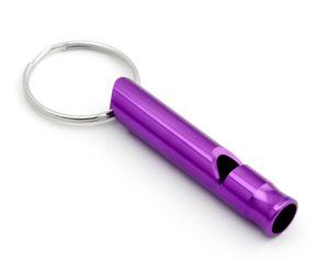 Signalpfeife Pfeife für Outdoor Notfallpfeife Hundepfeife Trillerpfeife Trainingspfeife als Schlüsselanhänger in der Farbe lila
