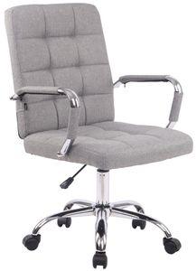 CLP Bürostuhl Deli PRO Stoff höhenverstellbar und drehbar, Farbe:grau