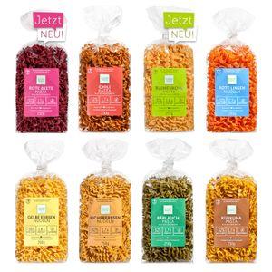 Clever Pasta glutenfreie Nudeln, Starter Paket, 8 Sorten Probierpaket Mix