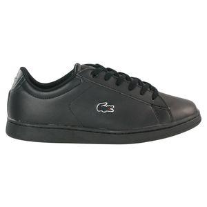 Lacoste Carnaby Evo BL 3 Sneaker Kinder Schwarz (37SUJ0013 02H) Größe: 38