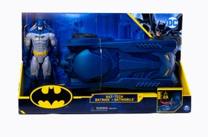 Batman – Batmobil + Figur, 30 cm – DC Comics – Batmobil Fahrzeug und Gelenkfigur – 6058417