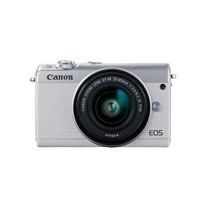 Canon EOS M100 15-45 Kit ( 15-45mm Objektiv,Fronthülle ) Systemkamera, Farbe:Weiß