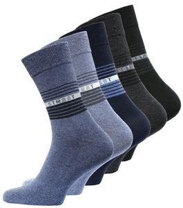 VCA® Socken STREET 10 Paar, Baumwolle/Elasthan Schwarz/Grau/Blau 43-46