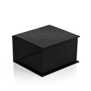 Edles Ring-Etui Ring-Schatulle Ringbox Schmucketui schwarz Magnetverschluss