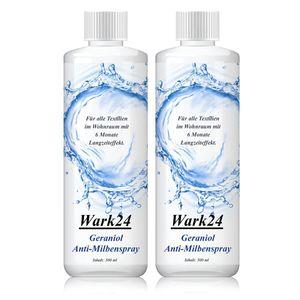 Wark24 Geraniol Anti-Milbenspray 500ml - Für alle Textilien (2er Pack)