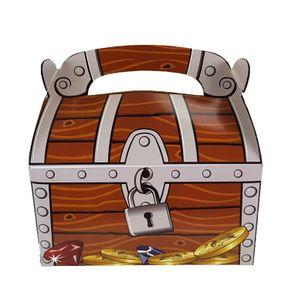 Piraten-Party Schatzkiste Schatztruhe 12 Stück für Mitgebsel und Give-Aways auf dem Kindergeburtstag von Palandi®