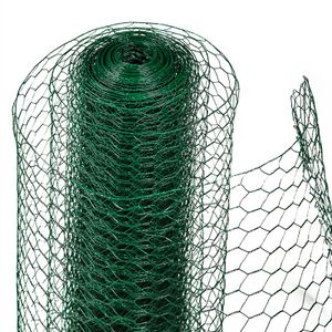 Sechseckgeflecht Drahtzaun Hasendraht 0,75 x 10m Drahtgeflecht Maschendraht grün