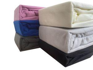 Warme Winter Fleece Spannbettlaken Spannlaken Spannbettuch Flausch Thermofleece, Größe:140 x 200 cm -160 x 200 cm, Farbe:Schwarz