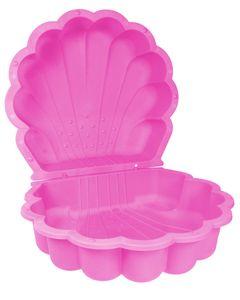 Ondis24 Sandkasten Muschel Wassermuschel pink  2-tlg. ca. 87 x 78 x 19,5 cm