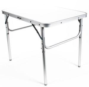 Camping-/Klapptisch aus Aluminium, leicht, robuste Tischplatte, 3,5 cm Packhöhe, 2,7 kg