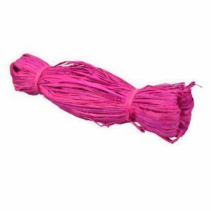 Creleo - Bast Raffia 50g pink Naturbast zum basteln