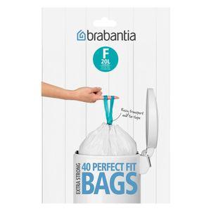BRABANTIA Müllbeutel Spenderverpackung 20 l (F) Slimline 40 Stück