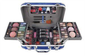 Kosmetikkoffer Traveller Blue Kosmetik Koffer Blau Pflege 84 Teilig Geschenk Weihnachten Beauty Schminkset