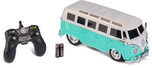 Carson 1:14 VWT1 Samba Bus 2.4G 100% RTR türkis, LED Beleuchtung, ferngesteuertes Auto, 500907324