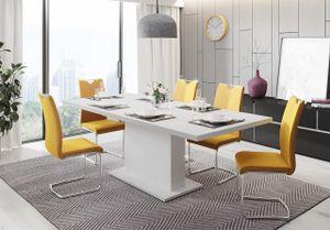 Mirjan24 Esstisch Giant, Esszimmertisch vom Hersteller, Stilvoll Ausziehbares Tisch, Wohnzimmer (Farbe: Weiß)