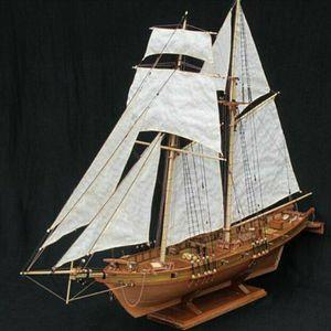 Holz Segelboot Modell DIY Kit Schiff Montage Dekoration Geschenk