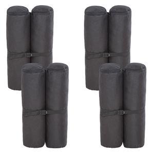 tectake 4 Pavillon Gewichte aus Polyester - schwarz