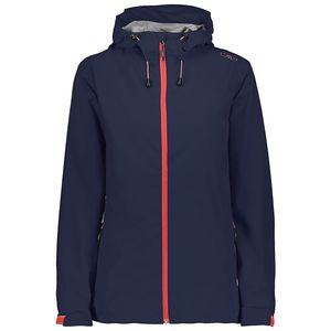 Cmp Woman Rain Jacket Fix Hood N950 Black Blue 44