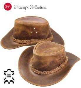 Lederhut in Vintage braun, Kopfgröße:XL, Farben:braun