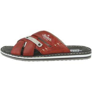 Rieker 21562-33 Herren elegante Pantoletten Weite G Clogs , Größe:44 EU, Farbe:Rot