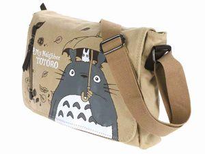 Kompakte Totoro Leinen Umhänge Tasche   Messenger Bag   Beige