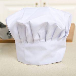 Bequeme Koch Einstellbare Küche Baker Chef Elastic-Kappe Catering # 3 Weiß