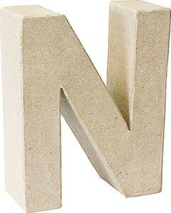 "KNORR prandell 3D-Buchstabe ""N"" Pappmaché 175 x 55 mm"