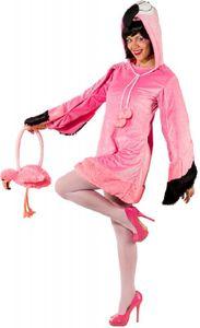 O9123-42-44 pink Damen Flamingo Kleid tropischer Vogel Kostüm Gr.42-44