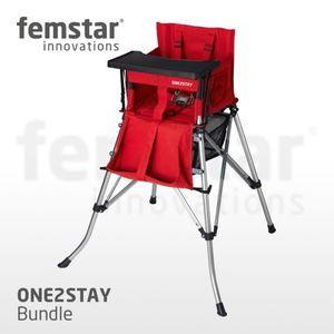 One2Stay High Chair Bundle H-DT Kinderhochstuhl mit Tisch verschiedene Farben Farbe: Rot