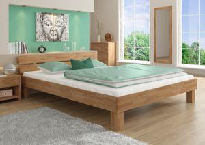 Geöltes Massivholzbett 200x200 Buche Großfamilienbett Doppelbett wählbares Zubehör 60.86-20, Ausstattung:Rollrost inkl.