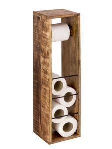 Toilettenpapierhalter 2. Wahl Toilettenpapierständer aus Holz 17 x 17 cm quadratisch Hocker Mangohol