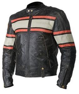 Motorradjacke leder STURGIS schwarz Gr. 58